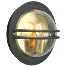 Norlys BREMEN E27 BLK S Bremen Wall Light E27 Black Smoked
