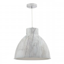 Buffalo 1 Light Pendant Marble Effect