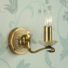 Interiors1900 Venetia Single Oxidised Brass Wall Light