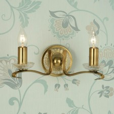 Interiors1900 Venetia Oxidised Brass Double Wall Light