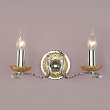 Interiors1900 Venetia Nickel Double Wall Light