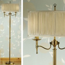 Interiors1900 Stanford Brass Floor Lamp, Beige