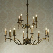 Interiors1900 Stanford Brass 12-Light Chandelier