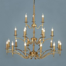 Interiors1900 Stanford Brass 21-Light Chandelier