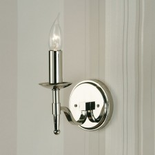 Interiors1900 Stanford Single Light Nickel Wall Light