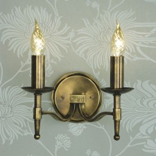 Interiors1900 Stanford 2-Light Brass Wall-Light