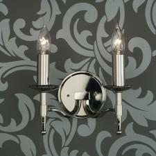 Interiors1900 Stanford 2-Light Nickel Wall-Light