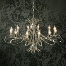 Interiors1900 Penn Chandelier 12-Light Nickel