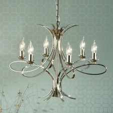 Interiors1900 Penn Chandelier 6-Light Nickel