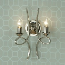 Interiors1900 Penn Double Wall Light Nickel