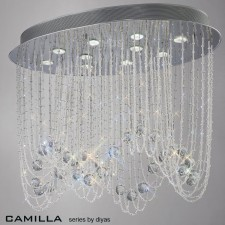 Diyas Camilla Ceiling 10 Light Polished Chrome/Crystal