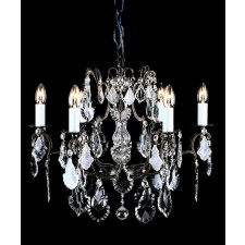 Impex Straz Chandelier Antique Bronze - 6 Light