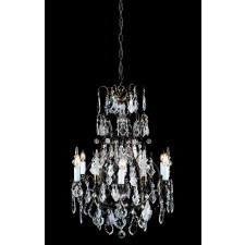 Impex Straz Chandelier Antique Bronze - 6-Light