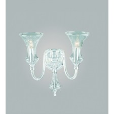 Impex Stara Chandelier - 2 Light, Polished Chrome