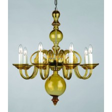 Impex Salas Chandelier Amber - 8 Light