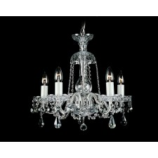 Impex Bela Chandelier - 5 Light, Polished Chrome
