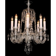 Impex Karvina Chandelier Chrome - 8 Light
