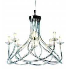 Impex Borosi Chandelier - 8 Light, Polished Chrome