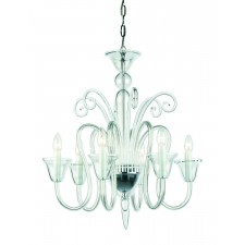Impex Saskia Chandelier - 6 Light, Glass