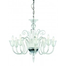 Impex Saskia Chandelier - 8 Light, Glass