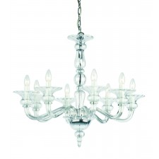 Impex Zagreb Chandelier - 8 Light, Polished Chrome