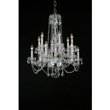Impex Stella Chandelier - 12 Light, Chrome