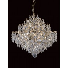 Impex Diamond Chandelier Gold - 12 Light, Brass Plate & Gold Plate