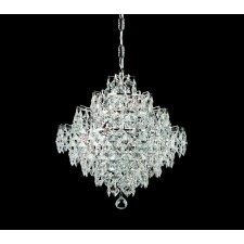 Impex Diamond Chandelier - 12 Light, Polished Chrome