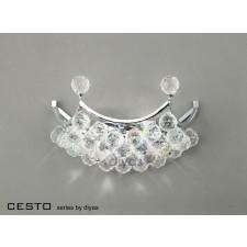 Diyas Cesto Wall Lamp 2 Light Polished Chrome/Crystal