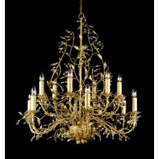 Impex Italiano Chandelier Gold - 12 Light