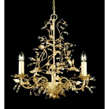 Impex Italiano Chandelier Gold - 3 Light