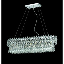 Impex Palermo Ceiling Light Chrome - 9 Light