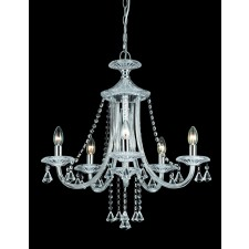 Impex Calgary Chandelier - 5 Light, Chrome