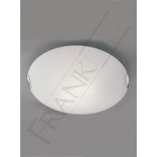 Franklite 305mm Circular Flush Fitting - Opal Glass, Chrome Clasps