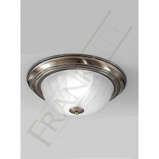 Franklite 355mm Circular Flush Fitting - Bronze, Ribbed Acid Glass