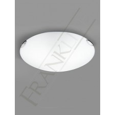 Franklite 485mm Circular Flush Fitting - Opal Glass, Chrome Clasps