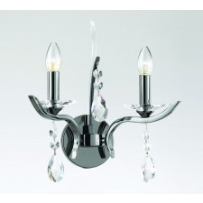 Impex Turin Wall Light Gun Metal - 2 Light