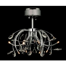 Impex Halifax Ceiling Light - 8 Light, Polished Chrome