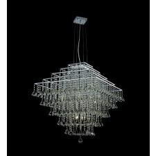 Impex Parma Square Chandelier Chrome - 12 Light