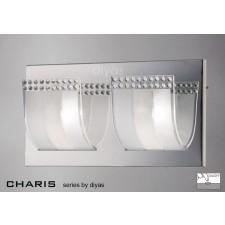 Diyas Charis Wall Lamp Switched 2 Light Chrome/Crystal
