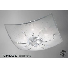 Diyas Chloe Ceiling 4 Light Polished Chrome/Crystal