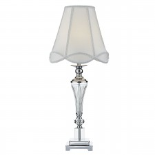 Christophe Table Lamp Polished Nickel Clear complete with Shade