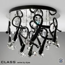 Diyas Class Black Round Ceiling 10 Light