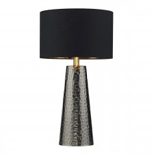 Clyde Table Lamp Black/Antique Nickel complete with Shade