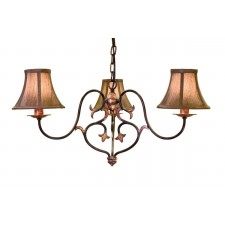 Elstead CN3 BUR/GOLD Coniston 3 - Light Chandelier Burnished Gold