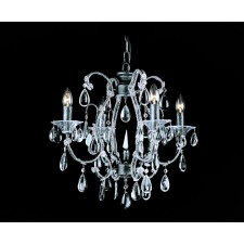 Impex Versailles Chandelier Silver - 4 Light