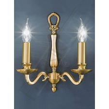 Franklite Cantabria Double Wall Light - Polished Cast Brass