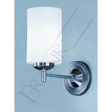 Franklite Decima Wall Bracket - Matt Nickel, Opal Cylinder Glass