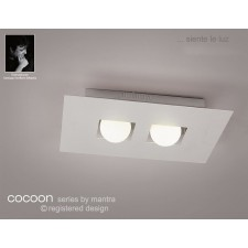Cocoon Ceiling 2 Lights Silver