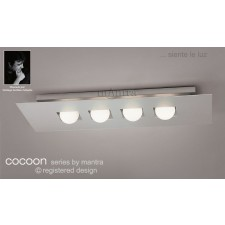 Cocoon Ceiling 4 Lights (In Line) Silver